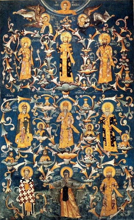 Sf Simeon izvoratorul de mir de la Man Hilandar din Sf Munte marele jupan Stefan Nemania Serbia 1200 12.1