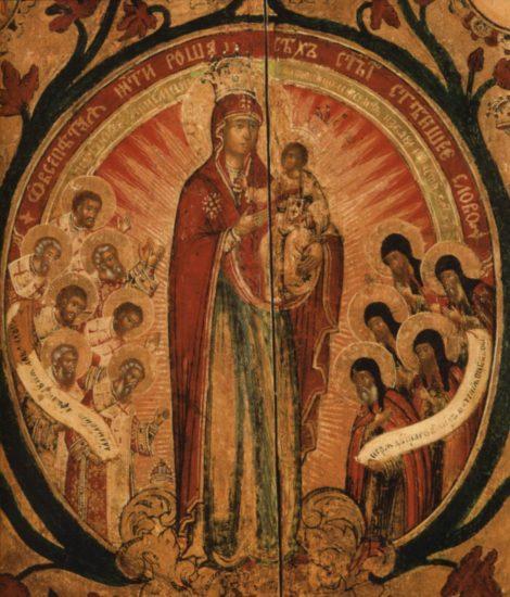 Icoana Maicii Domnului a Acatistului 12.1 detaliu