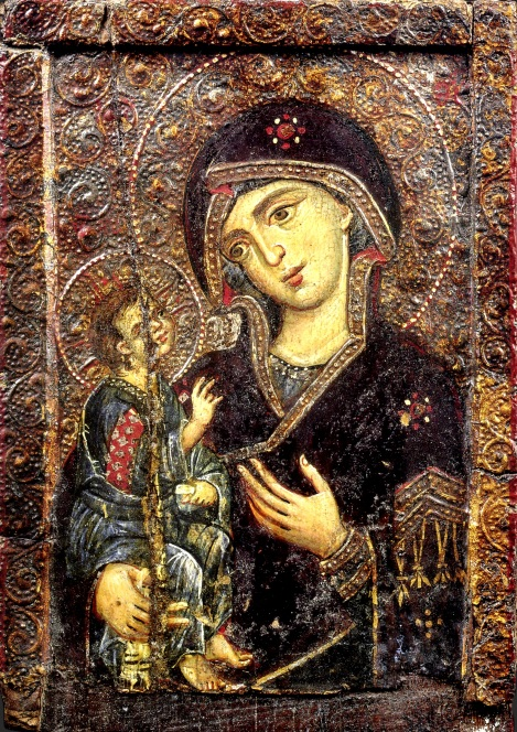 Icoana Maicii Domnului Odighitria din Man Sf Ectarerina din Sinai sec XIII 1.1