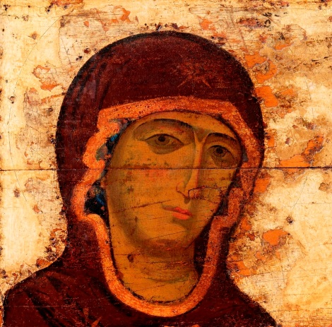 Deisis din Vladimir, sec XIII 1.3 Maica Domnului
