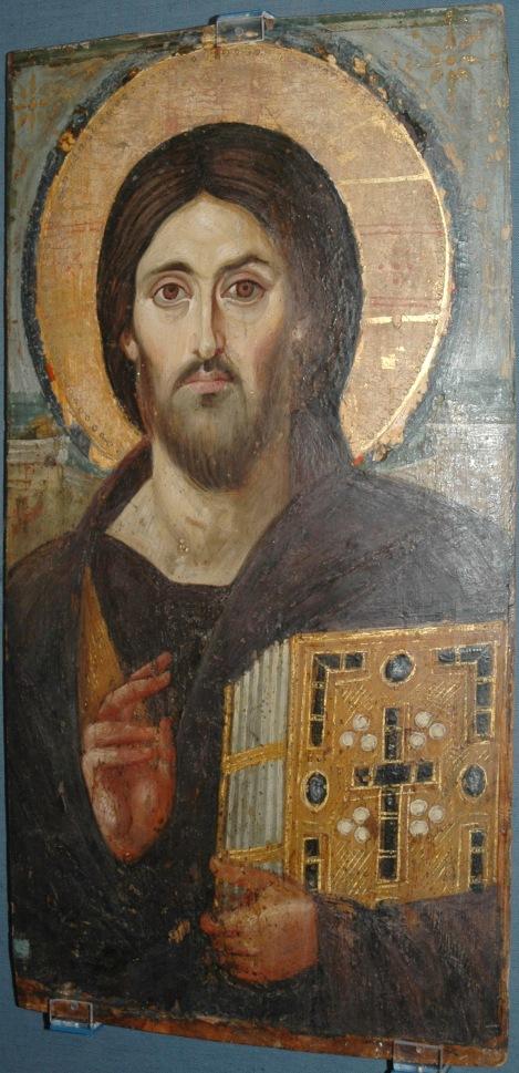 Icoana Iisus Hristos Pantocrator Man Sf Ecaterina din Sinai  2