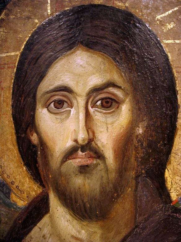 Icoana Iisus Hristos Pantocrator Man Sf Ecaterina din Sinai  3.1
