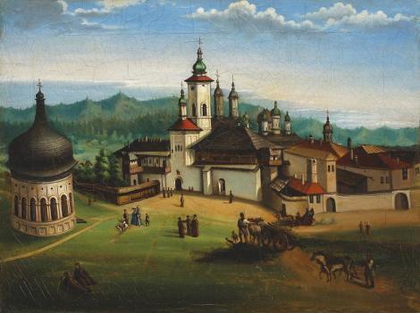 Gheorghe Siller - Vedere spre manastirea Neamt