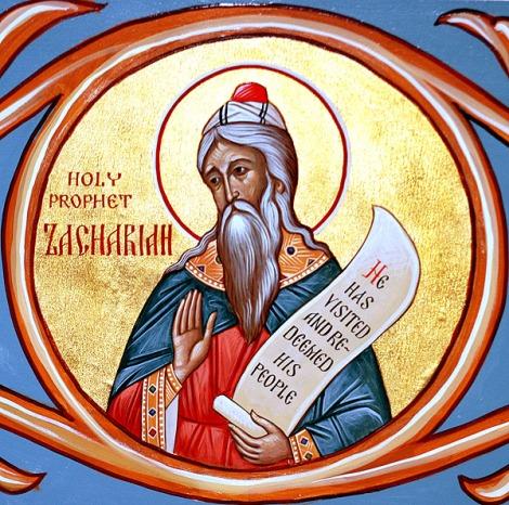 1. Sf Prooroc Zaharia, tatal Sf Ioan Botezatorul (sec I) 9
