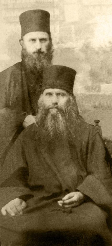 9. Cuv Siluan Athonitul (1938) (foto 6) cu arhim Sofronie Saharov ucenicul sau