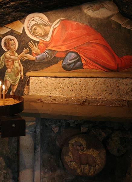 Pestera in care s-au ascuns Sf Elisabeta cu pruncul sau, Sf Ioan Botezatorul 9