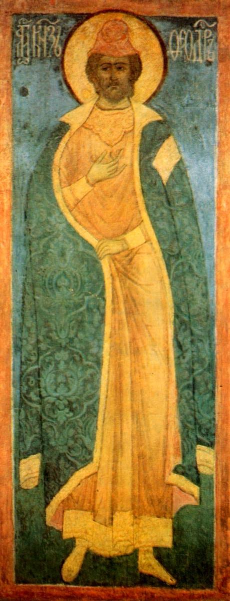 Sf Teodor, cneaz al Novgorodului, fratele mai mare al Sf Alexandru Nevski si sot al Sf Cuv Eufrosina de Suzdal (5 iunie) 2