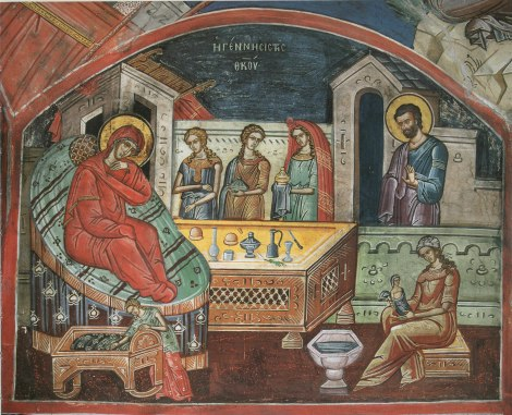1. Zamislirea Sfintei Fecioare Maria de catre Sf Ana 3 Sec XVI Man Dionisiu