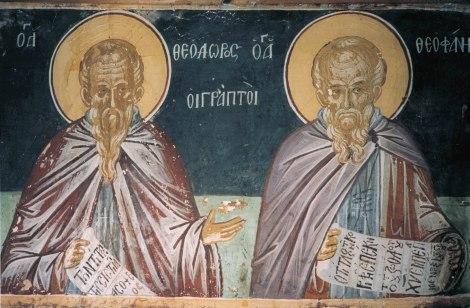 Sf Teodor Marturisitorul si fratele sau Teofan, facatorul de canoane 2