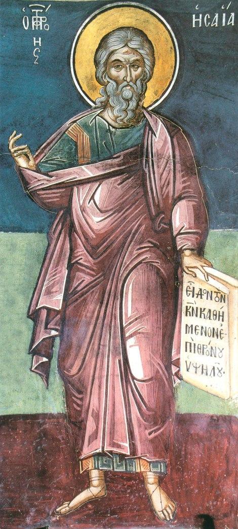 Sf Prooroc Isaia (9 mai) 2.1 fresca din sec XVI Man Dionisiu Athos