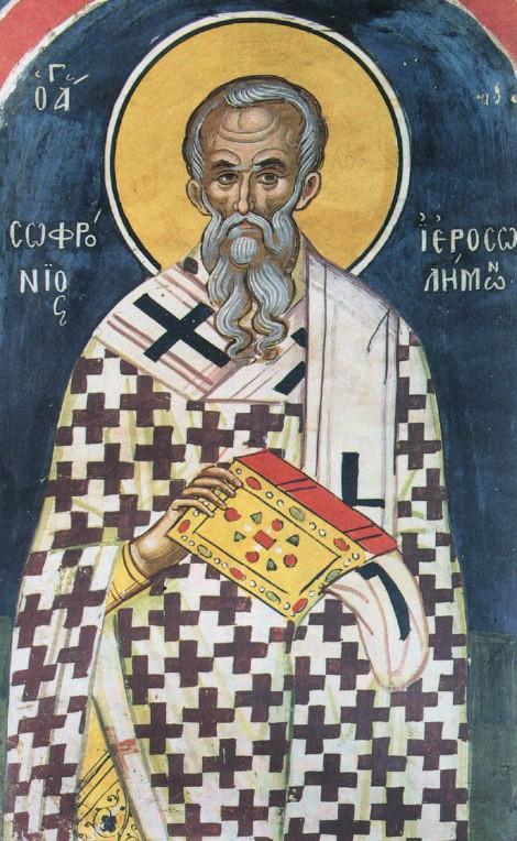Sf Ier Sofronie, patriarhul Ierusalimului 1