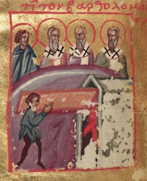1. Aducerea moastelor Sf Ap Bartolomeu de la Anastasiopolis la Lipari (580) 8