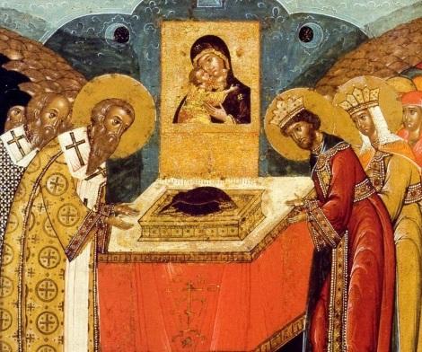 1. Punerea in racla a braului Maicii Domnului la Constantinopol (530) 8.6