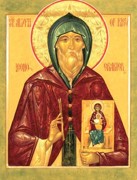 3. Cuv Alipie, iconarul de la Lavra Pesterilor din Kiev (1114) 21.1