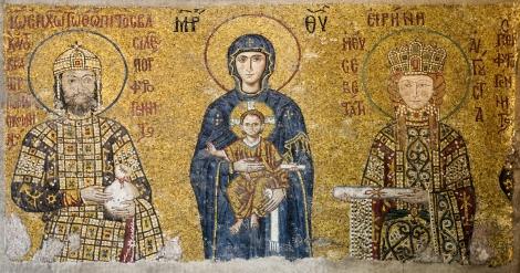 Mosaïque des Comnène, Sainte-Sophie (Istambul, Turquie)