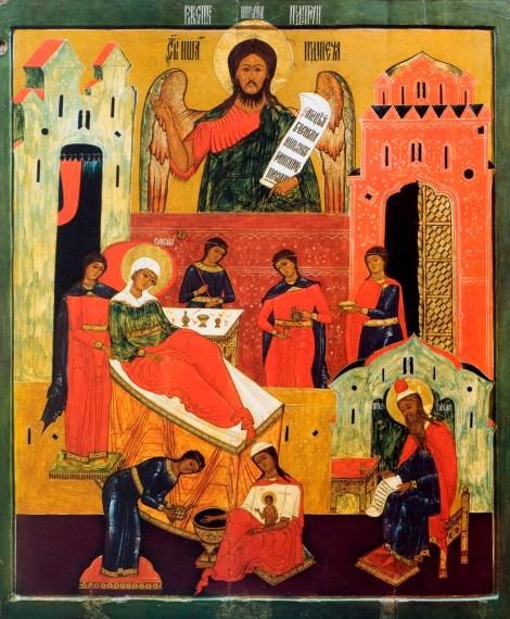 1. Zamislirea Sf Ioan Botezatorul 10.1 icoana din sec XVII