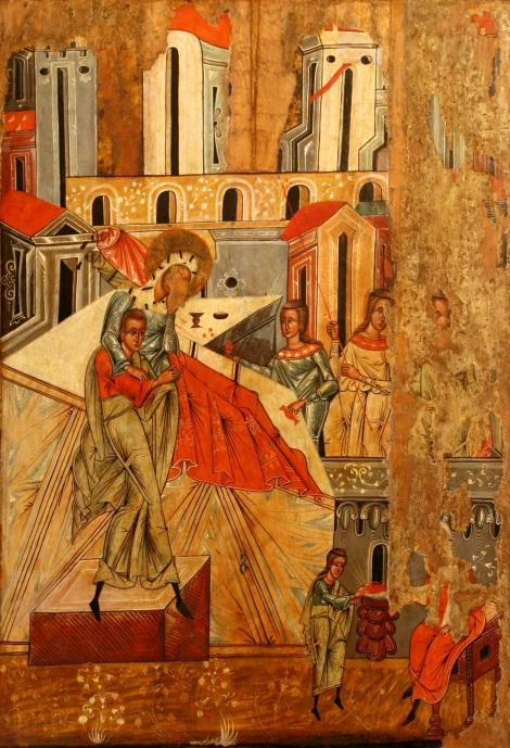 1. Zamislirea Sf Ioan Botezatorul 15.1 icoana din sec XVI