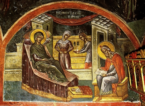 1. Zamislirea Sf Ioan Botezatorul 16.1 fresca din sec XVI