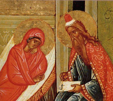 1. Zamislirea Sf Ioan Botezatorul 5.4 icoana din sec XV