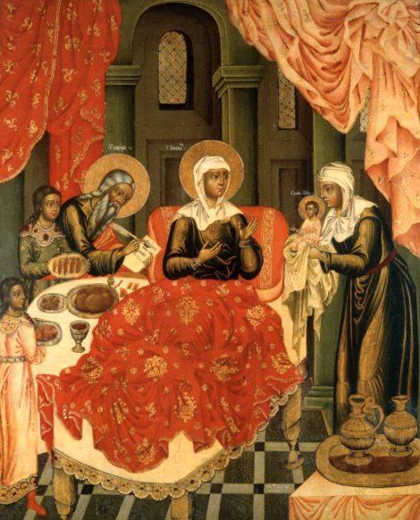 1. Zamislirea Sf Ioan Botezatorul 6.1 icoana din sec XVIII
