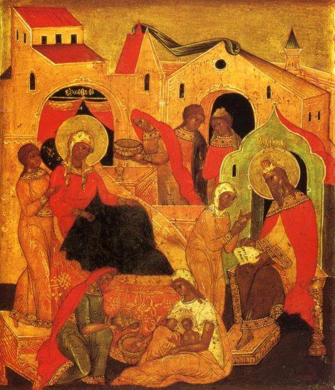 1. Zamislirea Sf Ioan Botezatorul 7.1 icoana din sec XVI-XVII