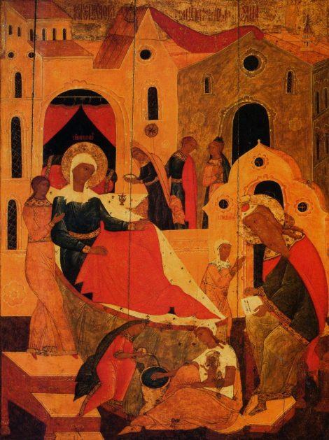 1. Zamislirea Sf Ioan Botezatorul 8.1 icoana din sec XVII