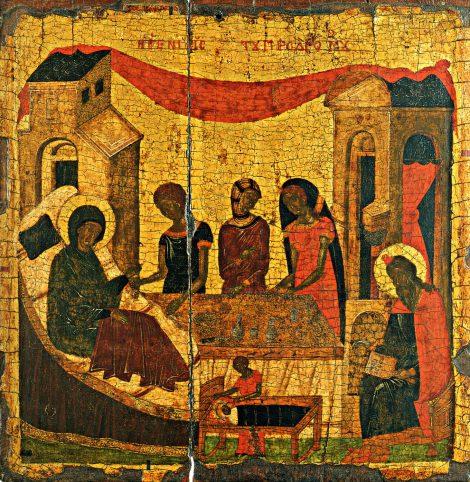 1. Zamislirea Sf Ioan Botezatorul 9 icoana din sec XV
