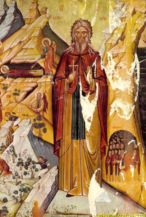 2. Sf Cuv Ioan pustnicul și cei 98 de pustnici împreună cu dânsul din Creta, Grecia 1.1