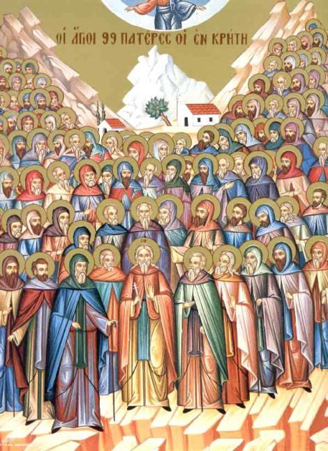2. Sf Cuv Ioan pustnicul și cei 98 de pustnici împreună cu dânsul din Creta, Grecia 2.1