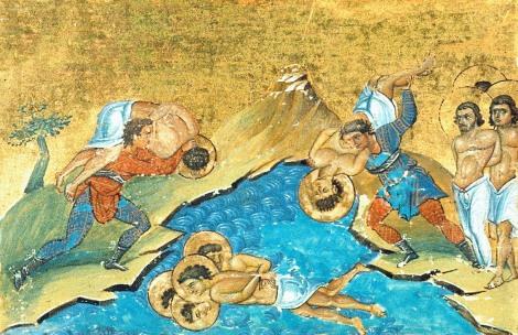 Sf Mc Anania preotul, Petru temnicerul si cei 7 ostasi cu dansii, Fenicia 1.1