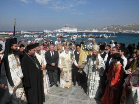 Sf Nou Mc Manuil robul din Sfakia, Creta, Grecia (1792) 7 procesiune