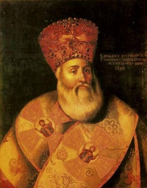 Sf Sf Mc Chiril Lucaris, patriarhul Constantinopolului (1638) 1.1 potret din 1632, Geneva