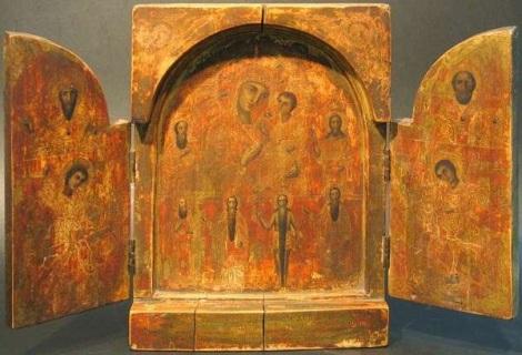 Icoana Maicii Domnului Mangaierea celor necajiti si intristati (19 noiembrie)  a Sf Ier Atanasie Patelarie  11