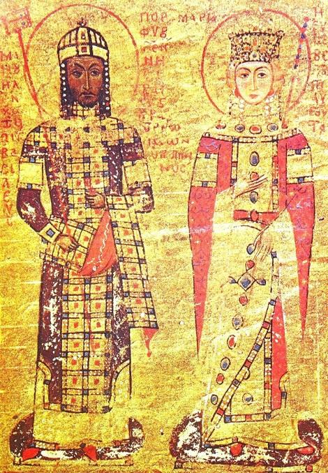 Manuel Comnenul 1.1 cu sotia sa Maria de Antiohia
