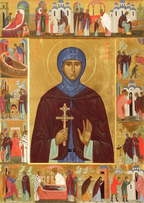 Sf Cuv Eufrosina, stareta Man Polotk (1164) 16.1