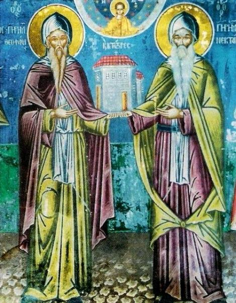 Sf Cuv Nectarie si Teofan,ctitorii Man Varlaam, Meteora 2.1