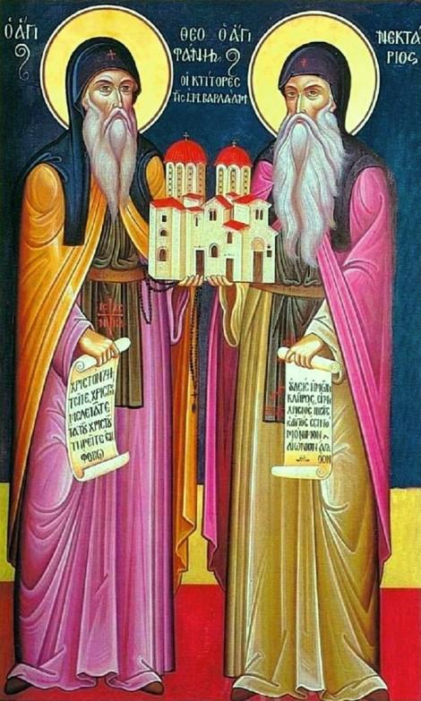 Sf Cuv Nectarie si Teofan,ctitorii Man Varlaam, Meteora 4.1